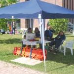 La protezione civile e presidio emergenza con defibrillatore1