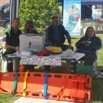 La protezione civile e presidio emergenza con defibrillatore2